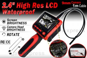 cia302-video-inspection-camera-borescope-2-4-lcd-endoscope-4-led-lights-1m-basic-set